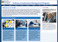 Website for Tishman Construction Management Program